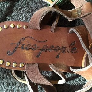 Free People Shoes - Free People Brown Willow Flat Sandals NEW